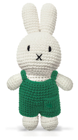 Pupazzo Miffy Con Salopette Verde | JUST DUTCH | RocketBaby.it