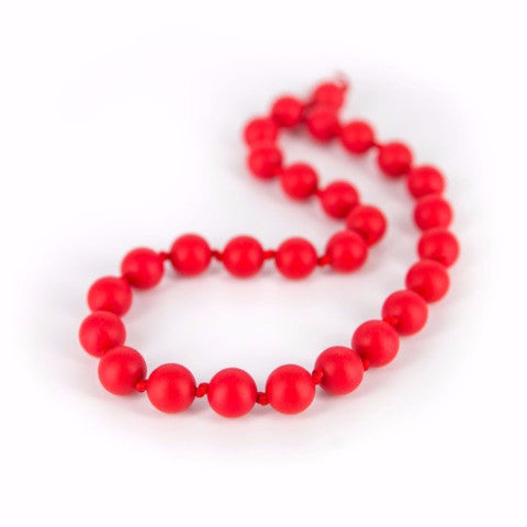 Collana da Mordere per Dentizione Macaron Shorty Scarlet Red |  | RocketBaby.it