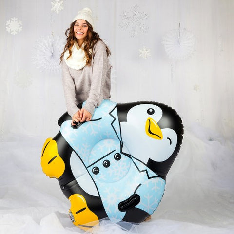 Slittino Gonfiabile da Neve Pinguino Gigante XXL | BIG MOUTH | RocketBaby.it