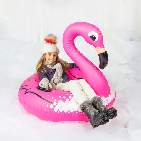 Slittino Gonfiabile da Neve Flamingo Rosa | BIG MOUTH | RocketBaby.it