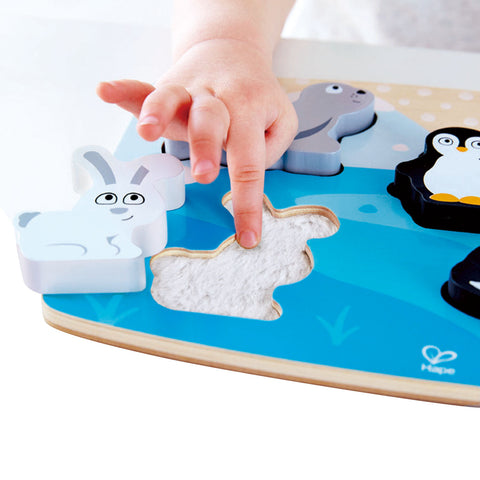 Puzzle Tattile Degli Animali Polari | HAPE | RocketBaby.it