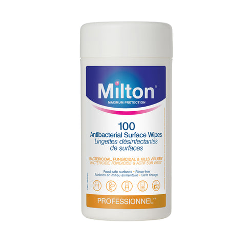 Pacchetto da 100 Salviettine Disinfettanti per Superfici | MILTON | RocketBaby.it