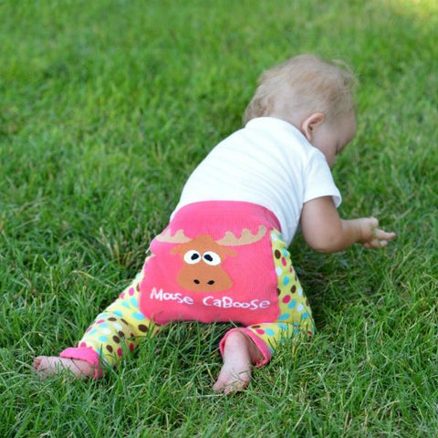 Leggings Baby Girls Moose Caboose | LAZY ONE | RocketBaby.it