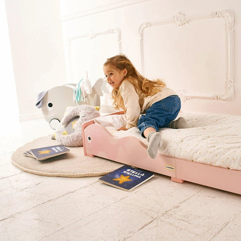 Letto Montessori Rosa Balena | ROCKETBABY | RocketBaby.it