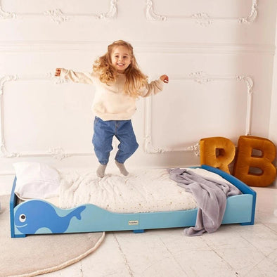 Letto Montessori Blu Balena | ROCKETBABY | RocketBaby.it