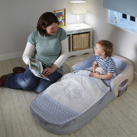 Letto Gonfiabile e Sacco a Pelo 2 in 1 Sleepytime Owl | READY BED | RocketBaby.it