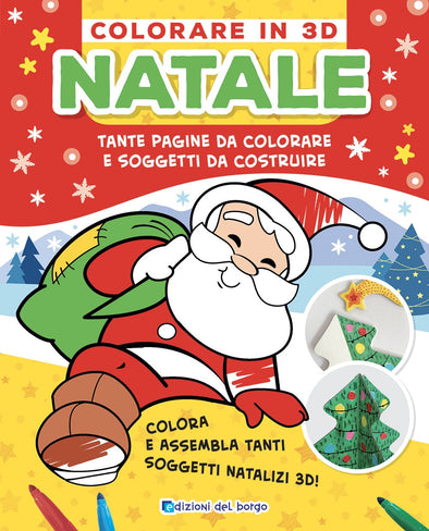 Libro da Colorare Natale in 3D