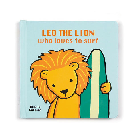 Leo the Lion who Loves to Surf Book Libro in Inglese | JELLY CAT | RocketBaby.it