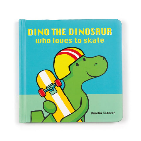 Dino the Dinosaur who Loves to Skate Book Libro in Inglese | JELLY CAT | RocketBaby.it