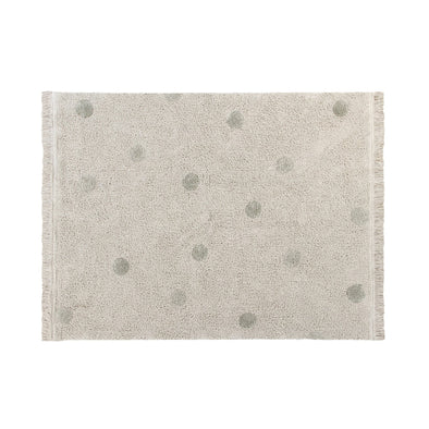 Tappeto Lavabile Hippy Dots Natural Olive