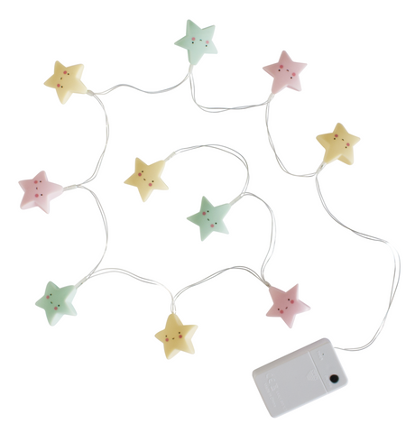 Lucine LED Colorate Stelline Pastello | A LITTLE LOVELY COMPANY | RocketBaby.it