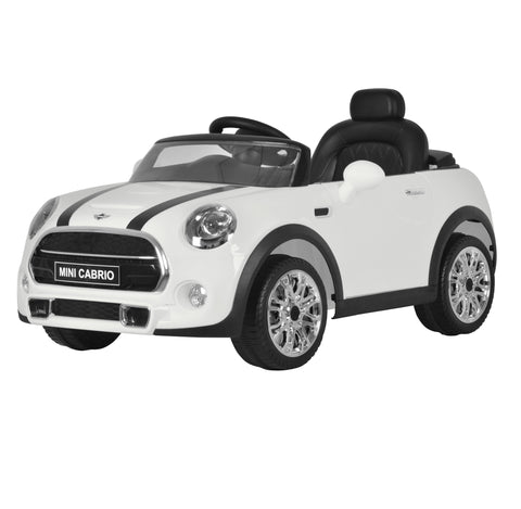 Mini Cooper Cabrio Bianco | BABYCAR | RocketBaby.it