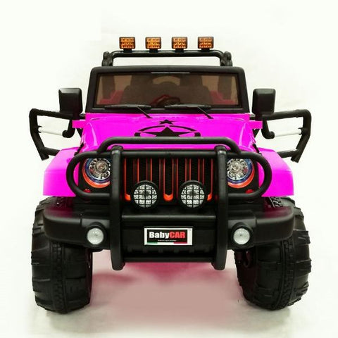 Jeep Off Road Rosa | BABYCAR | RocketBaby.it