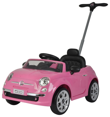 Push Car Fiat 500 Rosa | BABYCAR | RocketBaby.it