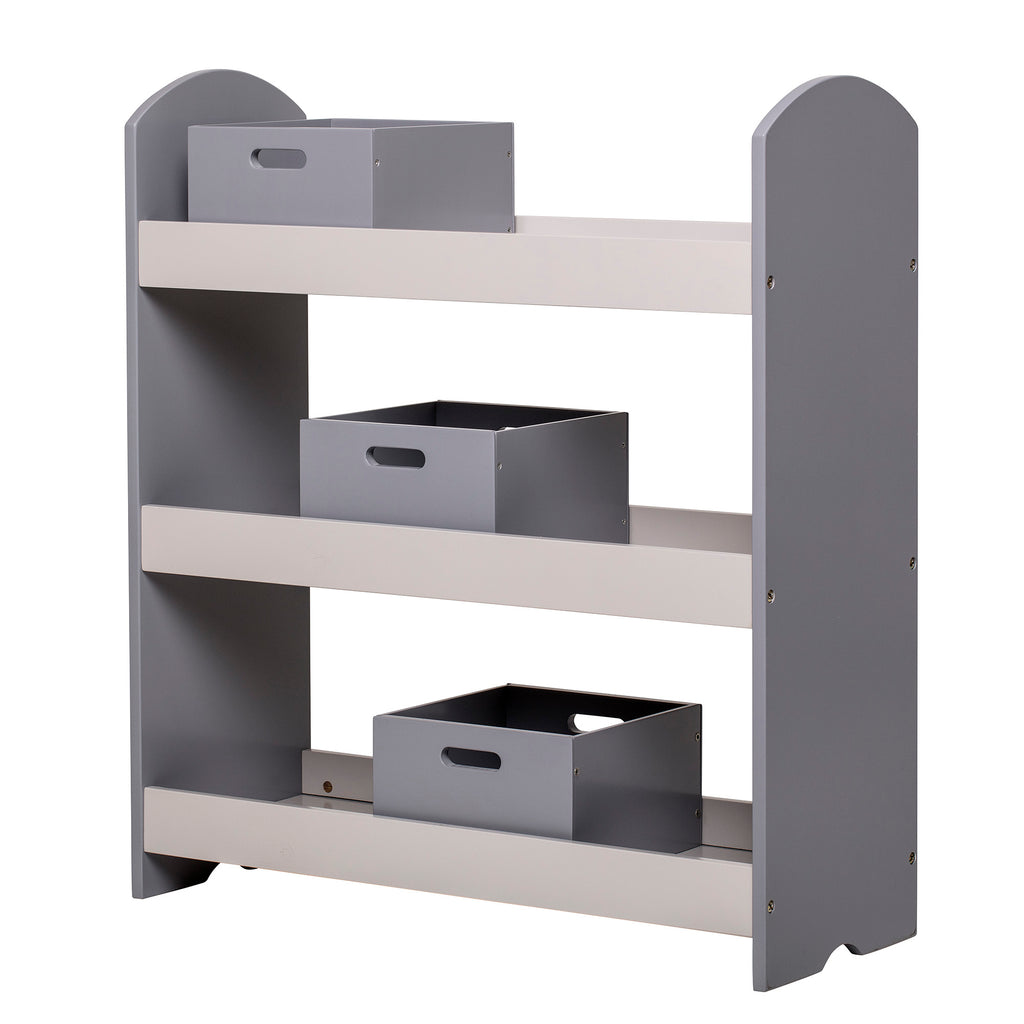 Bookcase with grey drawers bloomingville rocketbaby it