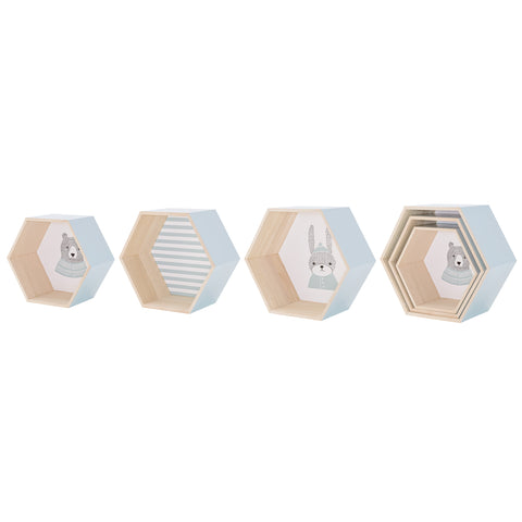 Set 3 Box Mensole Animaletti Blue | BLOOMINGVILLE | RocketBaby.it