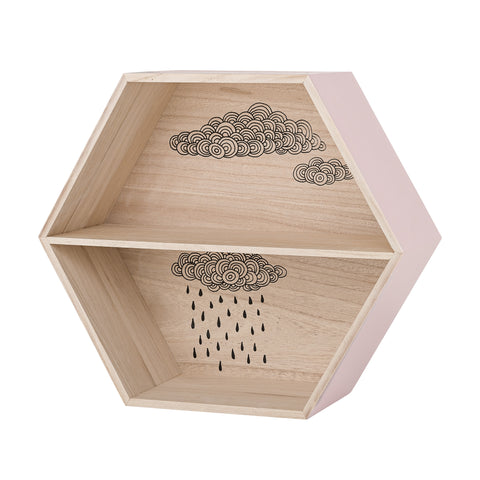 Box Mensola Nuvolette Rose | BLOOMINGVILLE | RocketBaby.it