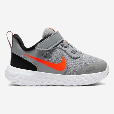 Nike Baby Revolution 5 (TDV) LT Smoke Grey Total Orange Bla