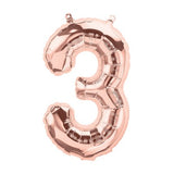 Palloncino Decorativo Numero 3 Rose Gold | NORTH STAR BALLOON | RocketBaby.it