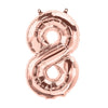 Palloncino Decorativo Numero 8 Rose Gold | NORTH STAR BALLOON | RocketBaby.it