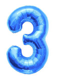 Palloncino Decorativo Numero 3 Blue | NORTH STAR BALLOON | RocketBaby.it