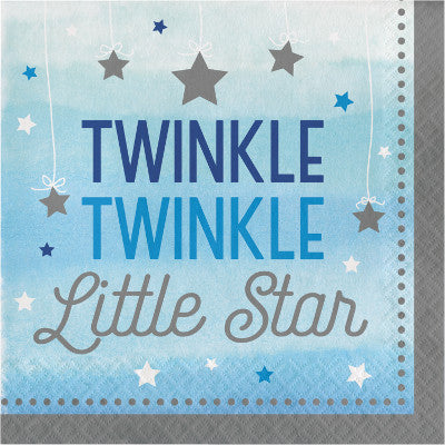 16 Tovaglioli One Little Star Boy | CREATIVE CONVERTING | RocketBaby.it