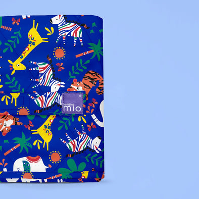 Fasciatoio Portatile Safari Celebration Blue | BAMBINO MIO | RocketBaby.it