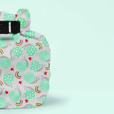 Wet Nappy Bag Portapannolini Snail Surprise | BAMBINO MIO | RocketBaby.it