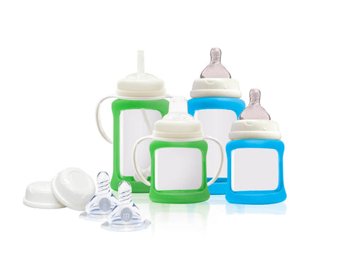 Set Biberon e Accessori Verde e Blu | CHERUB BABY | RocketBaby.it