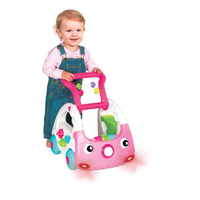 Gioco da Spingere Multiattività 3 in 1 Discovery Car Rosa | INFANTINO | RocketBaby.it