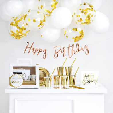Kit per Party Happy Birthday Gold