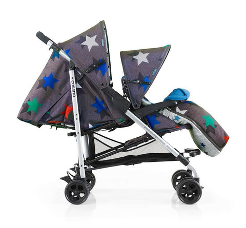 Passeggino Shuffle Tandem Grey Megastar | COSATTO | RocketBaby.it