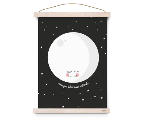 Poster I Love You To The Moon And Back | EEF LILLEMOR | RocketBaby.it