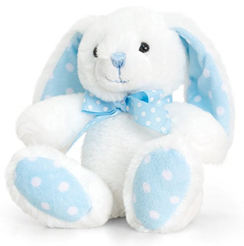 Peluche Coniglietto Cream e Pastel Blue | KEEL TOYS | RocketBaby.it
