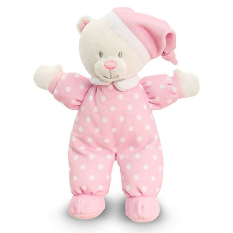 Peluche Baby Goodnight Bear Pink | KEEL TOYS | RocketBaby.it
