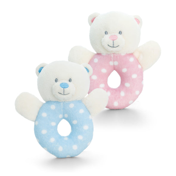 Sonaglio Anello Baby Bear Pink | KEEL TOYS | RocketBaby.it