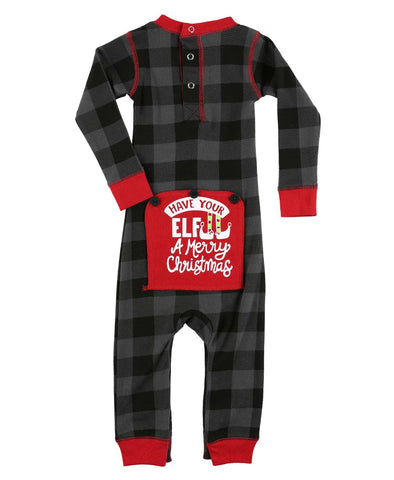 Pigiama Intero Natalizio Baby Tail Elf Plaid