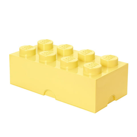 Box Portagiochi Lego con 8 Bottoni Giallo Pastello | LEGO | RocketBaby.it