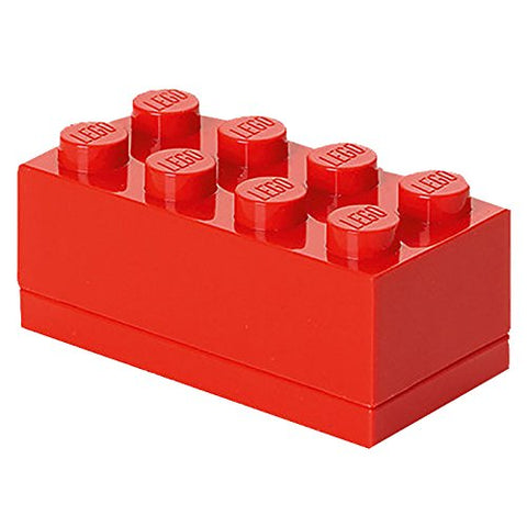 Minibox Portagiochi Lego a 8 Bottoni Rosso | LEGO | RocketBaby.it
