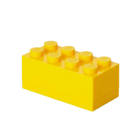 Minibox Portagiochi Lego a 8 Bottoni Giallo | LEGO | RocketBaby.it