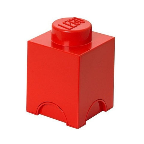Box Portagiochi Lego con 1 Bottone Rosso | LEGO | RocketBaby.it