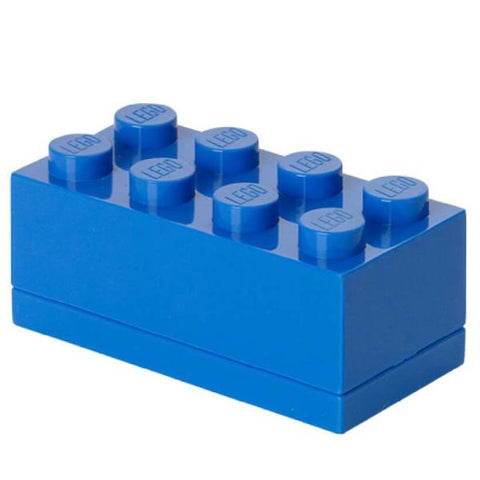 Minibox Portagiochi Lego a 8 Bottoni Blu | LEGO | RocketBaby.it