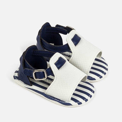 Sandali con Righe Bianco Nautico | MAYORAL | RocketBaby.it