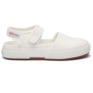 Sandali in Tela Velcro Superga White