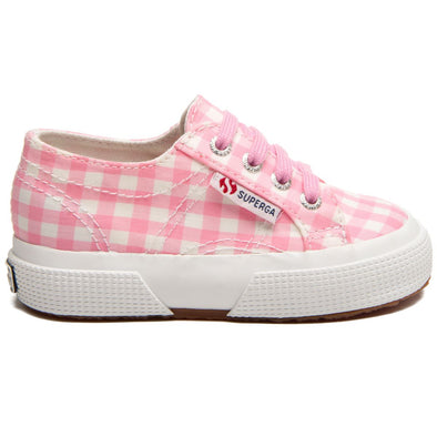 Sneaker Baby Superga Pink White Check