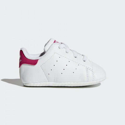 Adidas Neonato Stan Smith Crib Bianco e Rosa | ADIDAS | RocketBaby.it