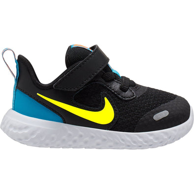 Nike Revolution 5 (TDV) Nere Baffo Giallo | NIKE | RocketBaby.it