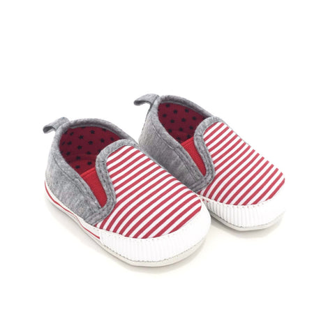 Sneakers Soft Sole  a Righe Bianche e Rosse | MIAMI KIDS | RocketBaby.it