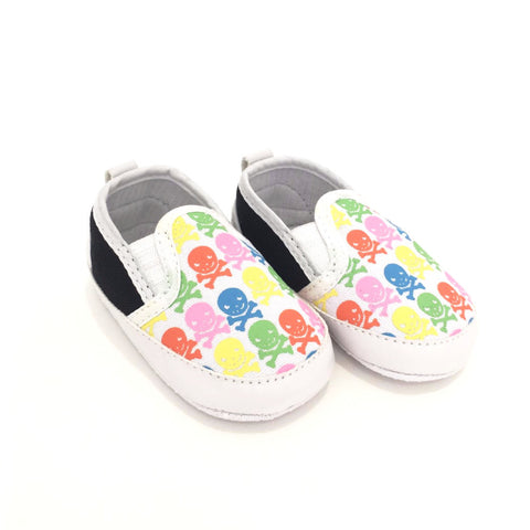 Sneakers Soft Sole Rainbow Skulls
