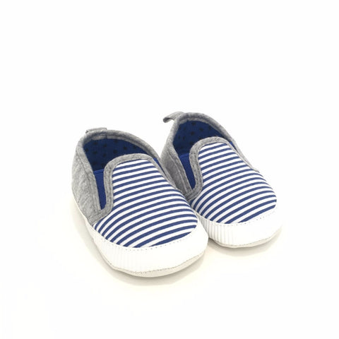 Sneakers Soft Sole Autunnali a Righe Bianche e Navy | MIAMI KIDS | RocketBaby.it
